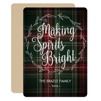 Holly & Flannel Christmas Card 13 Cm X 18 Cm Invitation Card