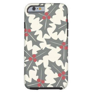 Holly Floral Pattern Tough iPhone 6 Case