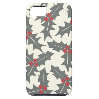 Holly Floral Pattern Tough iPhone 5 Case