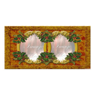 Holly Frame Picture Card