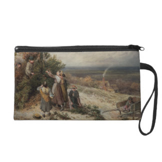 Holly Gatherers (w/c and bodycolour) Wristlet Clutches