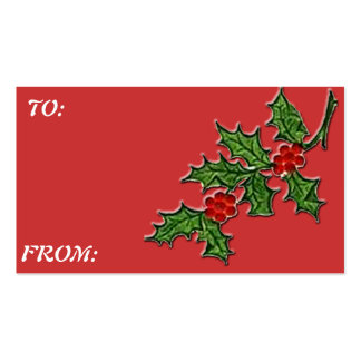 HOLLY  Gift Tag Double-Sided Standard Business Cards (Pack Of 100)