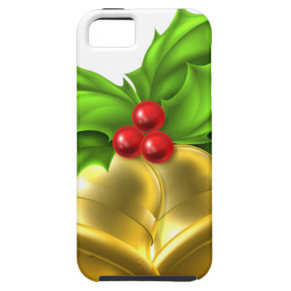 Holly Gold Bell Christmas Design iPhone 5 Covers