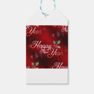 holly happy new year gift tags
