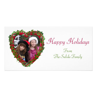 Holly Heart Photo Card