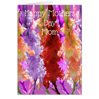 Holly Hocks Elegance Mother Day Card