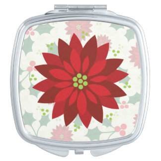 Holly Holiday compact mirror