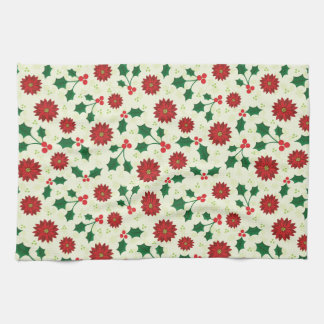 Holly Holiday kitchen towel