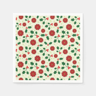 Holly Holiday paper napkins