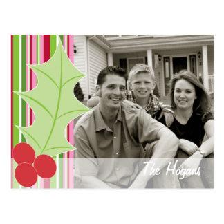 Holly Holiday Photo Postcard
