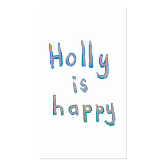 Holly is happy fun cute messy name art paintings Double-Sided standard business cards (Pack of 100)
