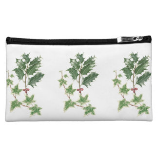 Holly & Ivy Sprig Botanical Cosmetic Bag