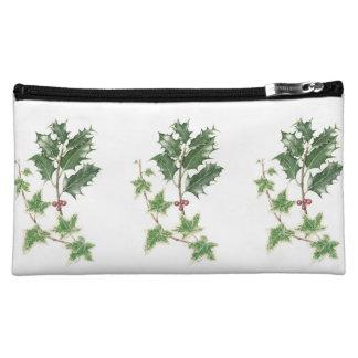 Holly & Ivy Sprig Botanical Cosmetic Bag
