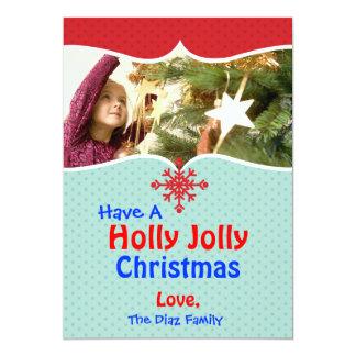 Holly Jolly Christmas 13 Cm X 18 Cm Invitation Card