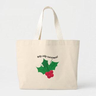 Holly Jolly Christmas! Canvas Bags