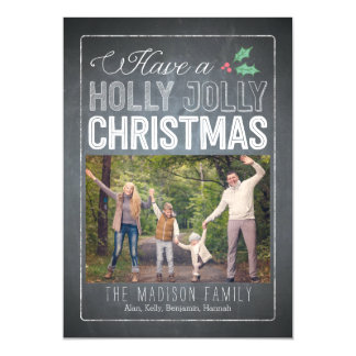 Holly Jolly Christmas Custom Thin Magnetic Card Magnetic Invitations