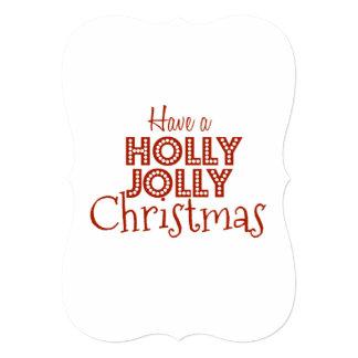 Holly Jolly Christmas | Holiday Greeting Card 13 Cm X 18 Cm Invitation Card