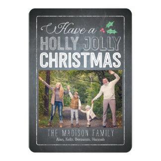 Holly Jolly Christmas Holiday Photo Cards 13 Cm X 18 Cm Invitation Card