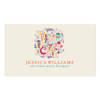 Holly Jolly Christmas Party Designer Pack Of Standard Business Cards
