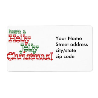 Holly Jolly Christmas Shipping Label