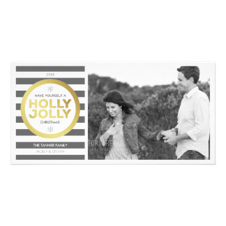 Holly Jolly Custom Greeting Photo Card