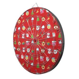 Holly Jolly Emoji Dart Board
