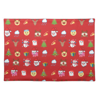 Holly Jolly Emoji Placemat