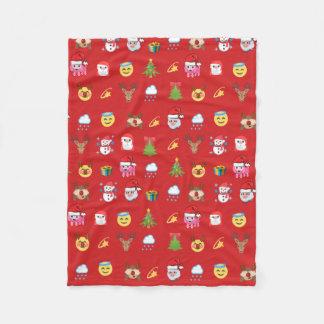 Holly Jolly Emojis Fleece Blanket