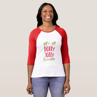 Holly Jolly Hammered Red Christmas Shirt