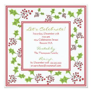 Holly Jolly Holiday Party Invitation