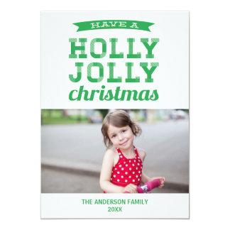 HOLLY JOLLY | HOLIDAY PHOTO CARD 13 CM X 18 CM INVITATION CARD
