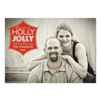 Holly Jolly Holiday Photo Card 13 Cm X 18 Cm Invitation Card