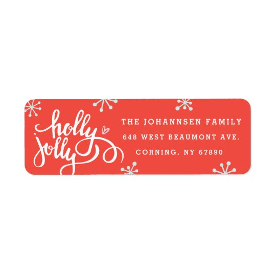 Holly Jolly Holiday Return Address Labels