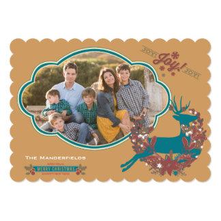 Holly Jolly Joy Christmas Holiday Photo Card 13 Cm X 18 Cm Invitation Card