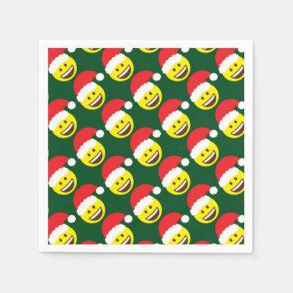 Holly Jolly Santa Emoji Disposable Serviette