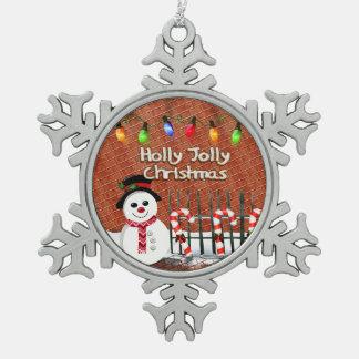 Holly Jolly Snowman Ornament