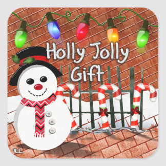 Holly Jolly Snowman Stickers