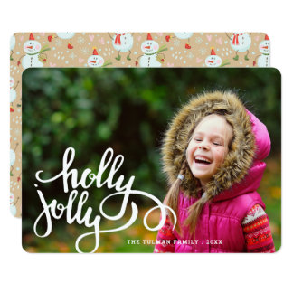 Holly Jolly Snowmen Photo Holiday Card