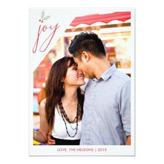Holly Joy Red and Green Christmas Card 13 Cm X 18 Cm Invitation Card