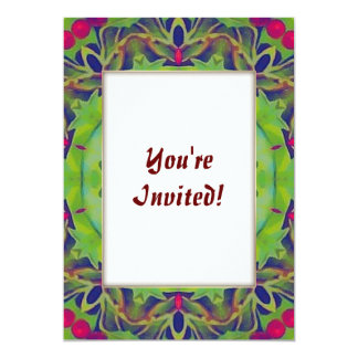Holly Kaleidoscope 13 Cm X 18 Cm Invitation Card