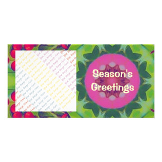 Holly Kaleidoscope Picture Card