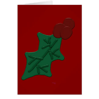 Holly Leaf and Berries Greeting Card