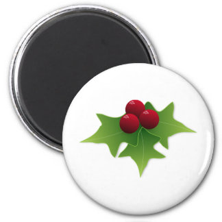 Holly Leaf with Berries Magnet