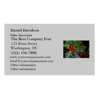 Holly Leaves and Berries Business Card