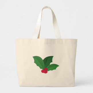 Holly Leaves Canvas Bags