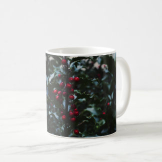 Holly leaves beautiful picture mug