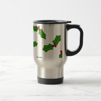 Holly Leaves Travel Mug