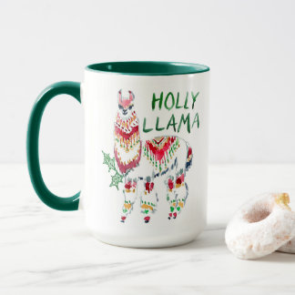 HOLLY LLAMA Boho Holiday Mug