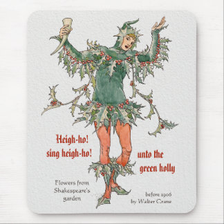 Holly man Walter Crane Flowers from Shakespeare Mouse Pad