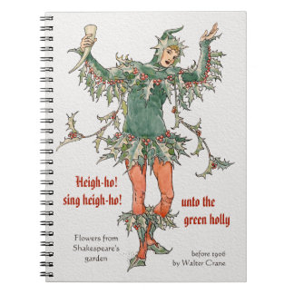 Holly man Walter Crane Flowers from Shakespeare Notebook